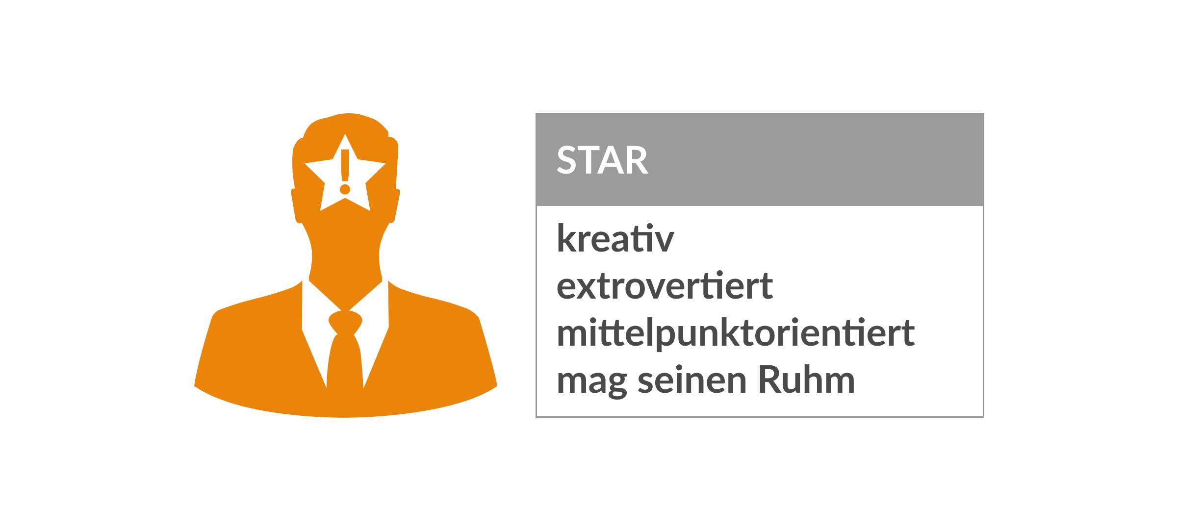 Persönlichkeitstypen Star