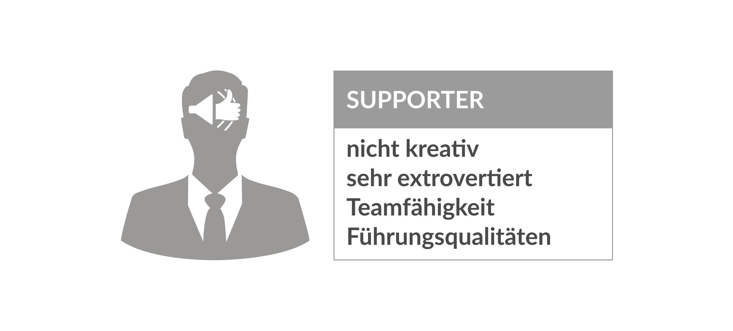 Persönlichkeitstypen Supporter