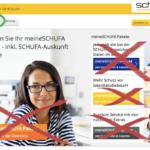 Screenshot MeineSchufa Webseite